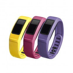 GARMIN Energy , Canary, Pink ,Violet , Large , vívofit® 2 Bands