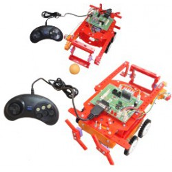 ربات فوتبالیست و ربات جنگجو با میکروکنترلر AVR ATMEGA8A