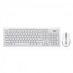 کيبورد و ماوس بيسيم رپو مدل Rapoo 8200P Wireless Keyboard and Optical Mouse With Persian Letters با حروف فارسي