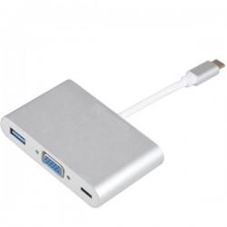 تبدیل TYPE C USB3.1 به VGA / TYPE C / USB3.0