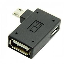 تبدیل میکرو USB به مادگی USB دارای پورت تامین پاور (OTG)