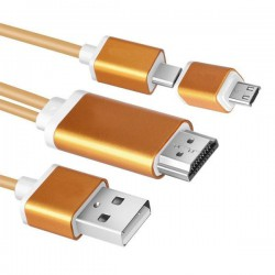 کابل تبدیل MHL به HDMI مخصوص انتقال صوت و تصویر موبایل و تبلت بر روی TV