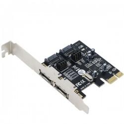 کارت PCI EXPRESS SATA اینترنال به همراه پورت E SATA